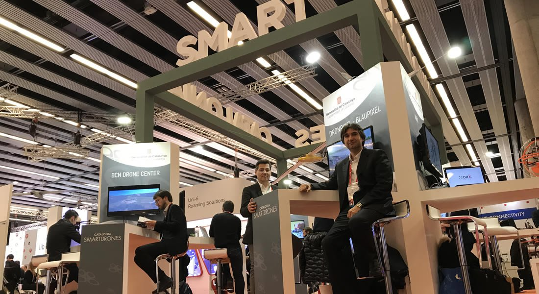 DRONPIXEL presentes en la feria Mobile World Congress 2018 de Barcelona